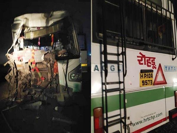 incident with rohtu bus going to delhi hrtc bus