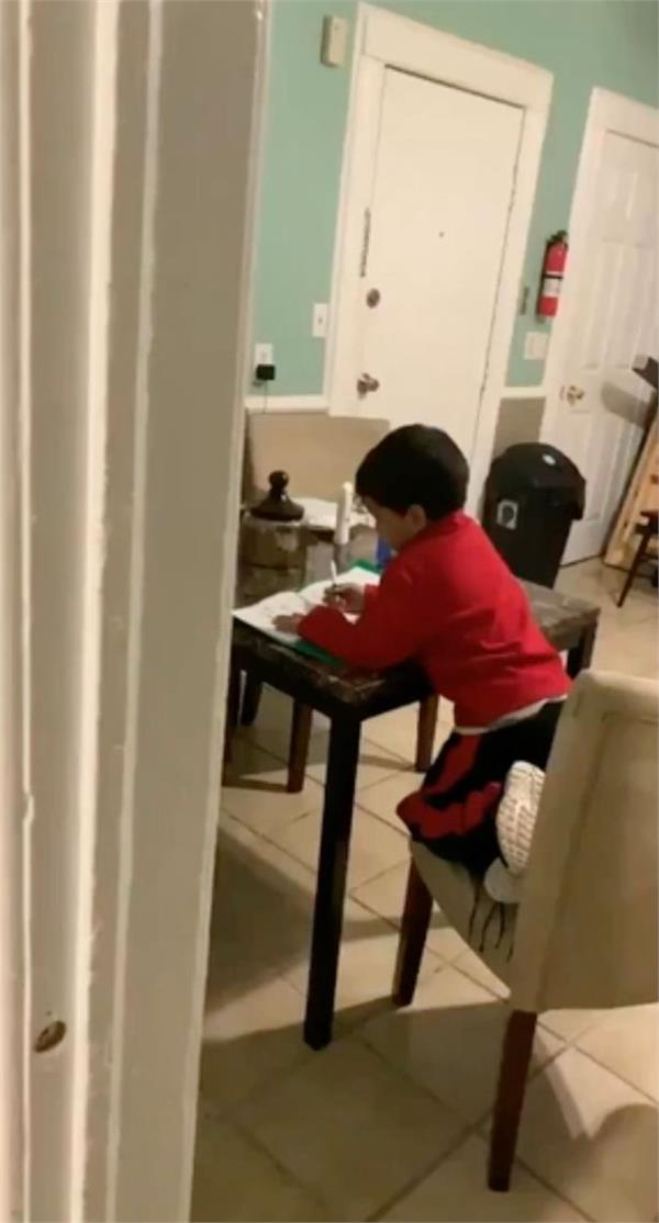 us 6 year old boy uses alexa to solve math homework
