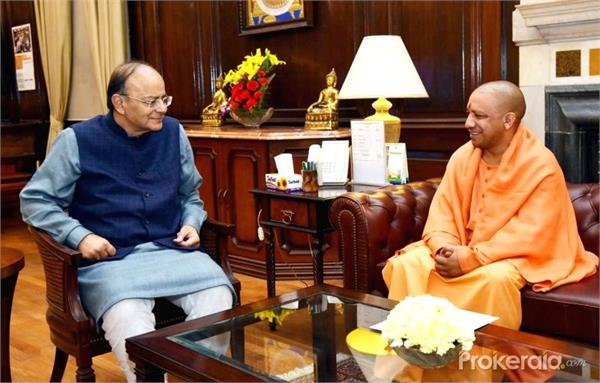 arun jaitley cm yogi congratulates on his birthday