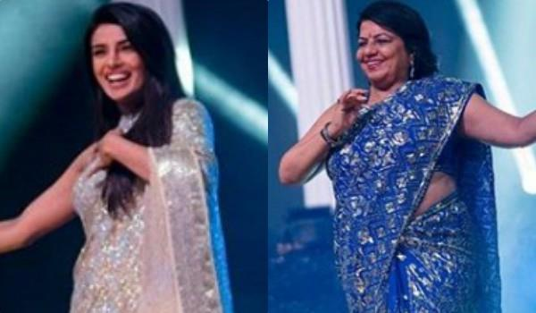 priyanka chopra dance with her mother madhu chopra