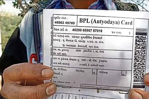 ration card made in the name of dog in gujarat