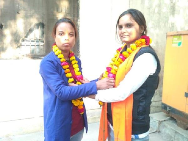 2 girls marriage each other in hamirpur