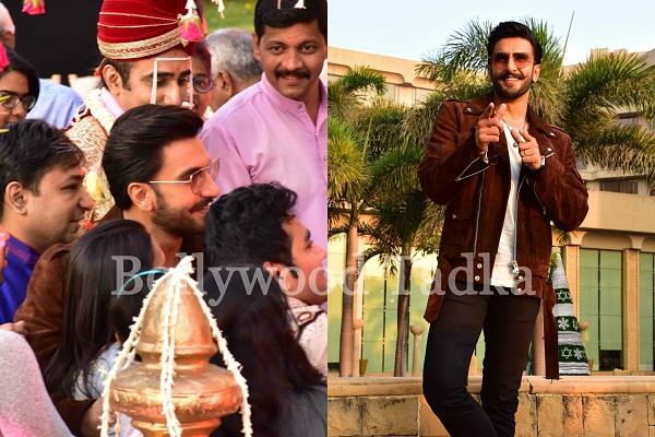 ranveer singh attend marriage ceremony during simmba promotion
