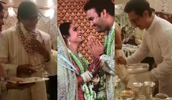 isha ambani wedding aamir amitabh serve food to guests