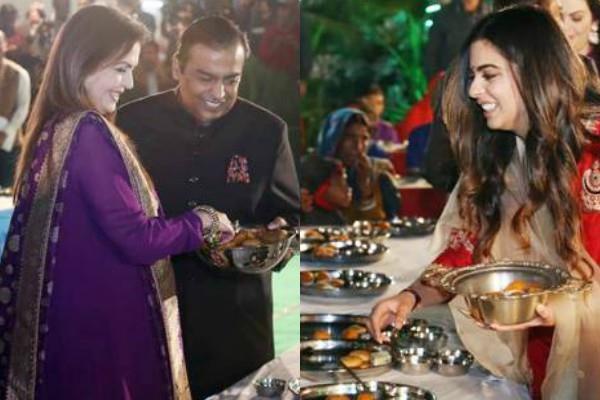 बेटी की शादी से पहले उदयपुर में अंबानी परिवार ने की 'अन्न सेवा', 5100 लोगों को खिलाया खाना