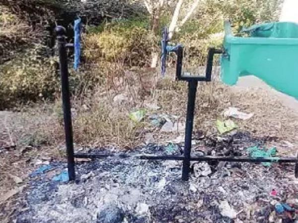 naughty elements burnt in dustbin in malhad