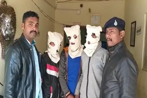 3 masked armed police personnel clamped in a few hours