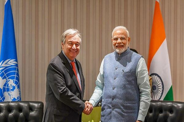 guterres says india support for the climate agreement is commendable