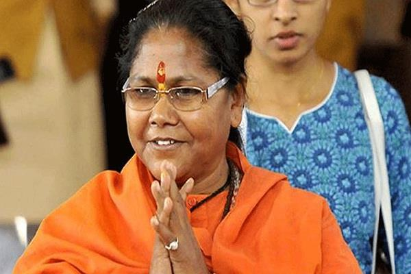 sadhvi niranjana will become mahamandaleshwar at kumbh mela