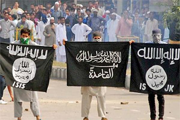 is flag in kashmir are shown bu indian agenst alledge lashkar