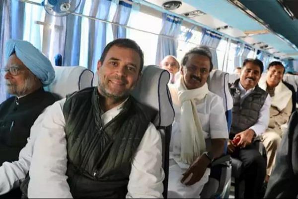 राहुल गांधी की बस में सवार हुआ पूरा महागठबंधन, बढ़ सकती है मोदी सरकार की टेंशन