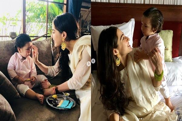 taimur ali khan gave this gift to sara at rakshabandhan