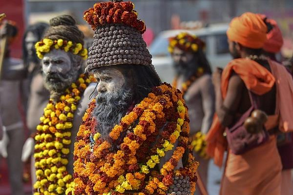 naga sadhu is the center of attraction