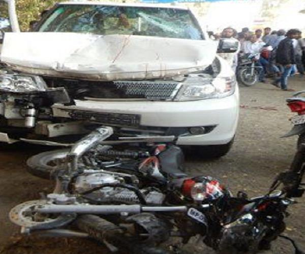 incident car collides with bike 1 killed 2 seriously