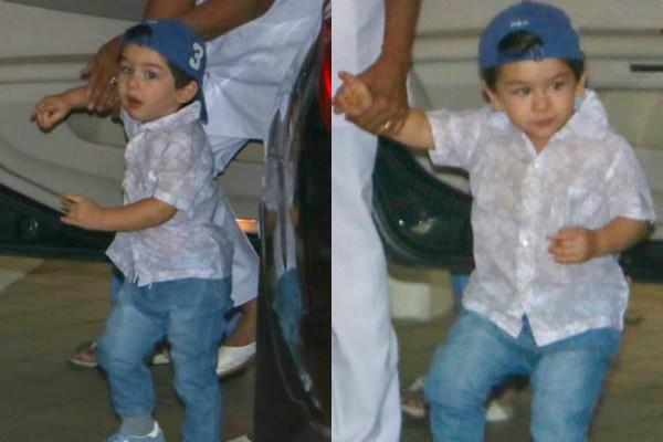 taimur ali khan spotted at bandra with nanny