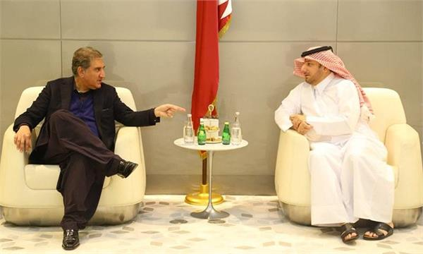 pakistani foreign minister qureshi visits qatar