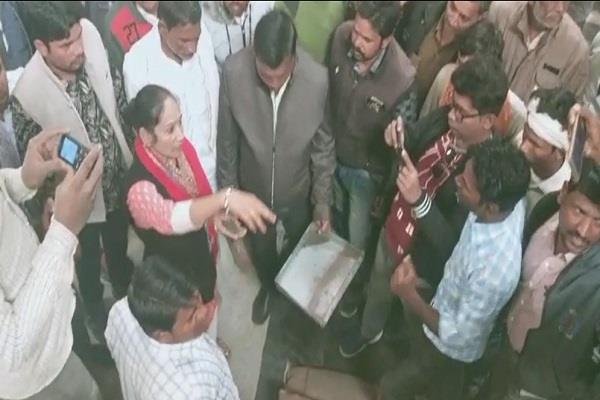 lady singham mla observed inspection of agricultural produce