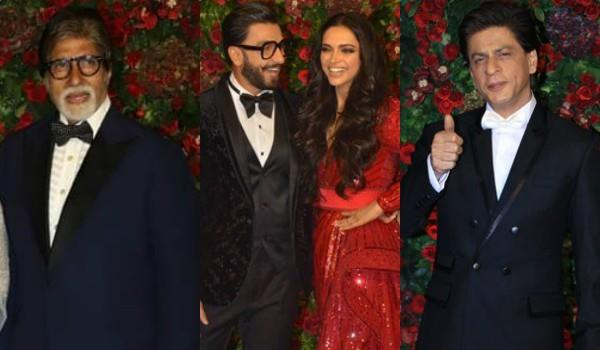 amitabh shahrukh dance at deepveer reception party