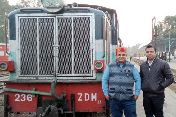 train run on pathankot jogindranagar track on the railway minister s instruction