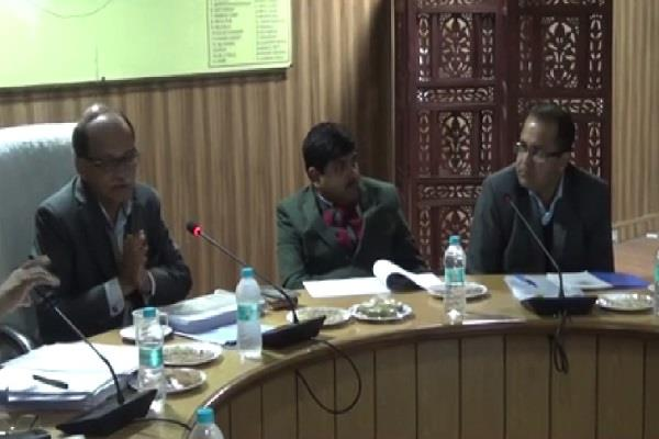 chief secretary meeting with officials