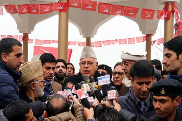 bulandhsher incident is planned said farooq