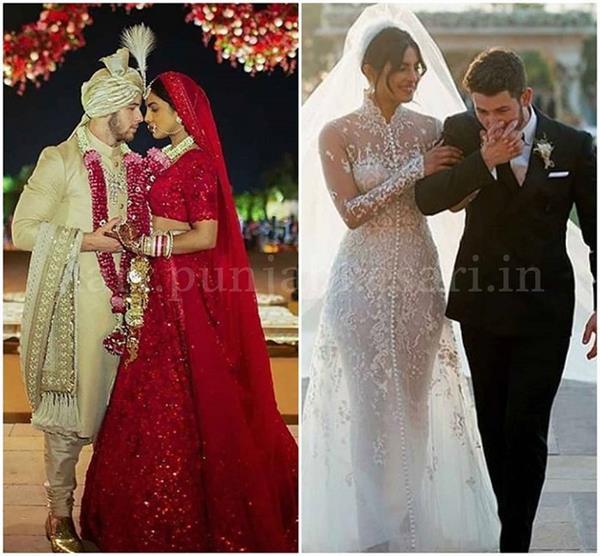 सामने आई प्रियंका-निक की शादी की तस्वीरें, दोनों वेडिंग लुक में दिखे Stunning!