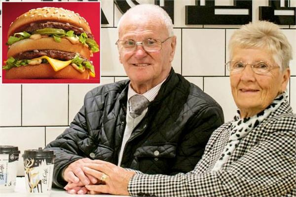 this elderly couple s eating at mcdonald s from 23 years
