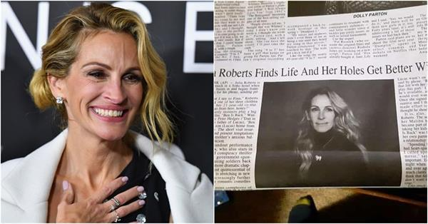 newspaper makes an unfortunate typo on julia roberts headline