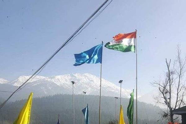 tricolor hoisted in kashmir