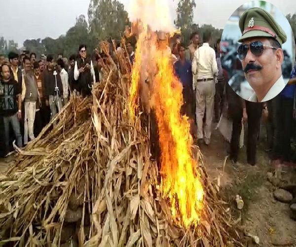 bulandshahr violence the funeral of inspector subodh