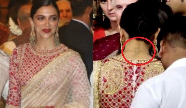 deepika padukone has not removed her rk tattoo