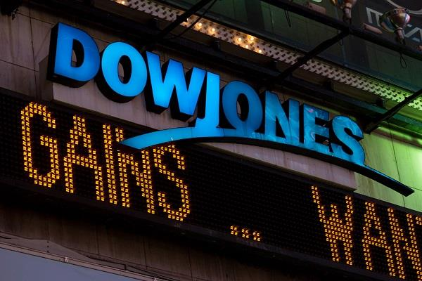 dow jones hits 400 points in us stock market