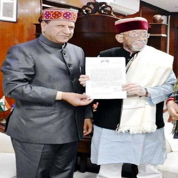 rajiv bindal kept this big demand of himachal in front of the central government