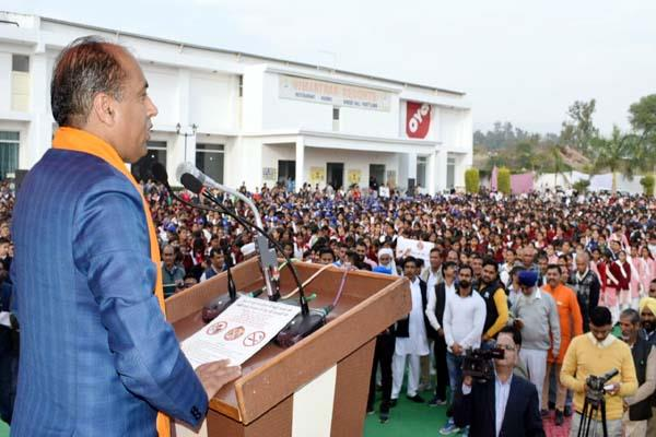 cm jairam said mass campaign against intoxication is time required