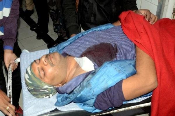bjp mp shyamacharan gupta s nephew shot dead