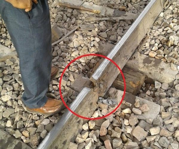 then broken railroad in etawah of up stir in the department