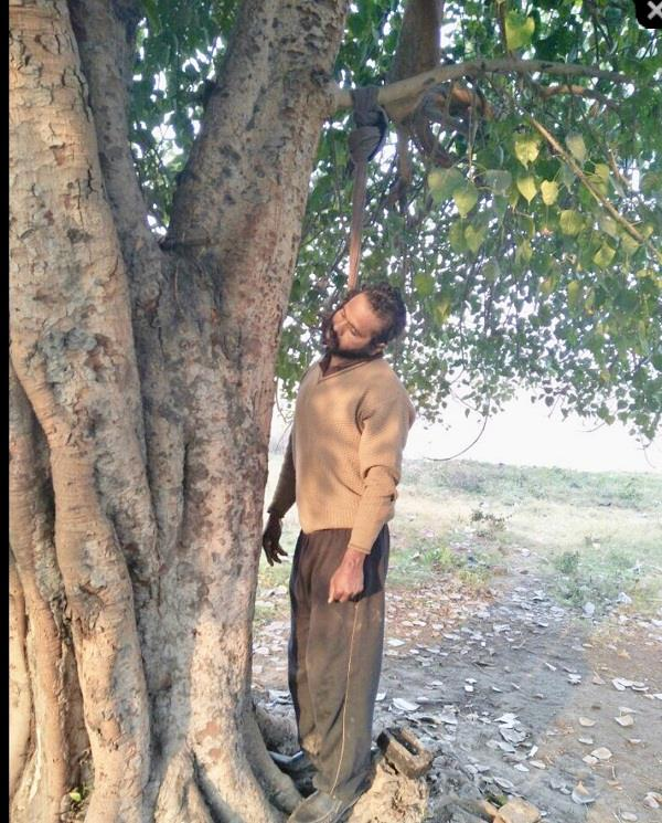 dead body found hanging from tree near railway station