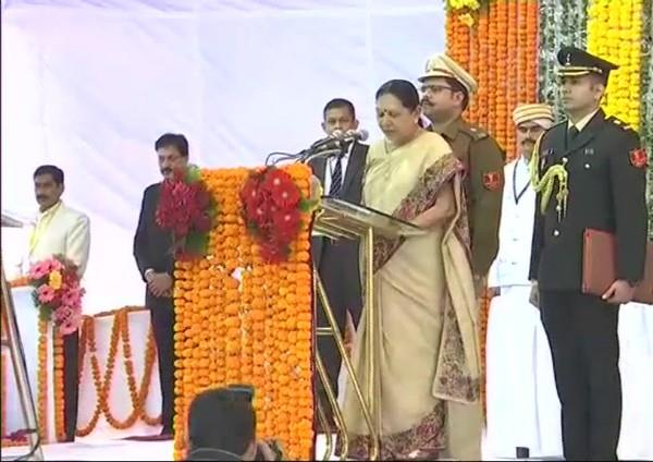 bhopal anandiben patel sworn in as governor of madhya pradesh