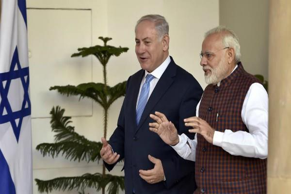 modi played a song ekchana dana bichak dana for netanyahu