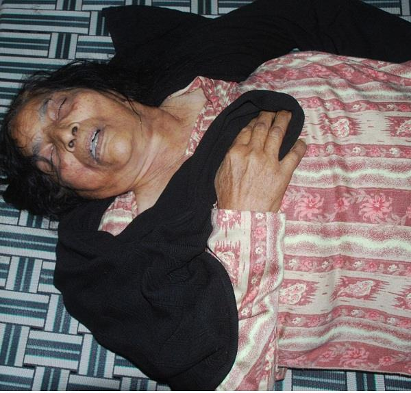 old woman death