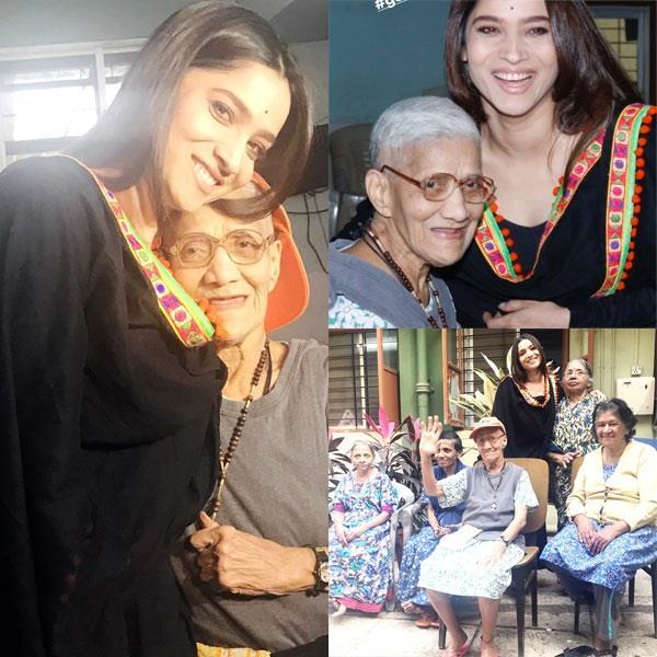 ankita lokhande visits old age home