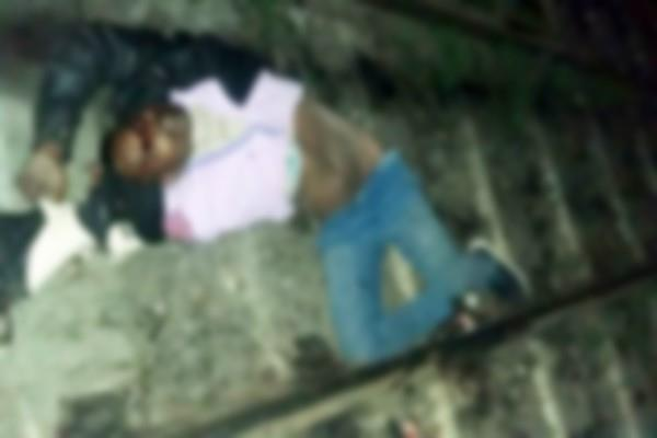 unknown person dead body found on railway crosing