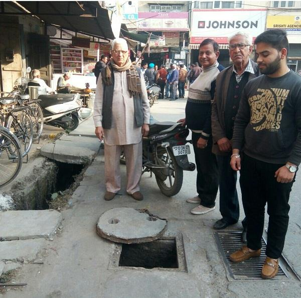 seamant slabs disappear from open manhole and drain