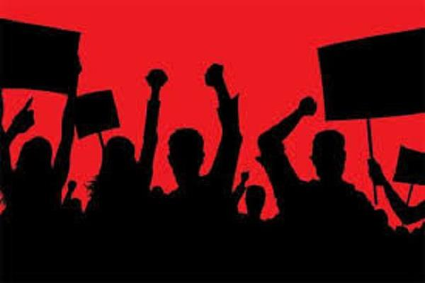 villagers protest against jodh  having a temple and a gurdwara