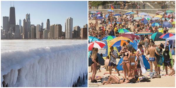 record break temp in us australia