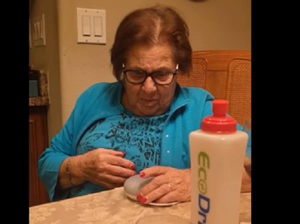 elderly woman scared from google