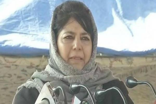 mehbooba request to pm modi and pak  do not make j k a battlefield