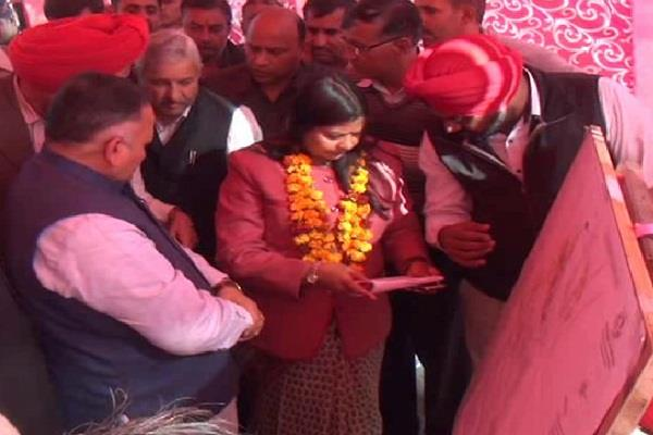 kavita jain sewerage pipeline inaugurated