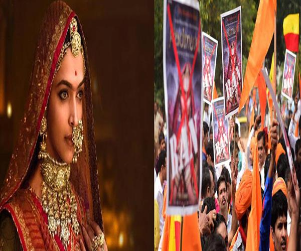 demolition and arson in protest against padmavat 16 people arrested
