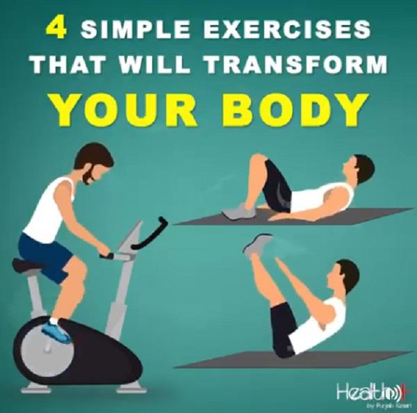 4 simple exercises that will transform your body